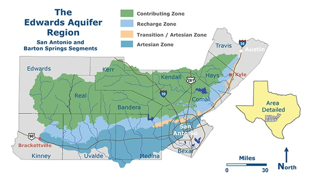 Edwards Aquifer regional map